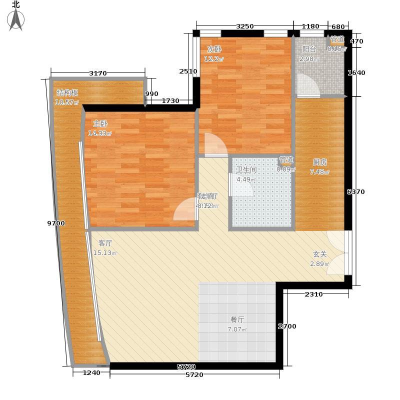 本家润园115.00㎡1号楼B面积11500m户型