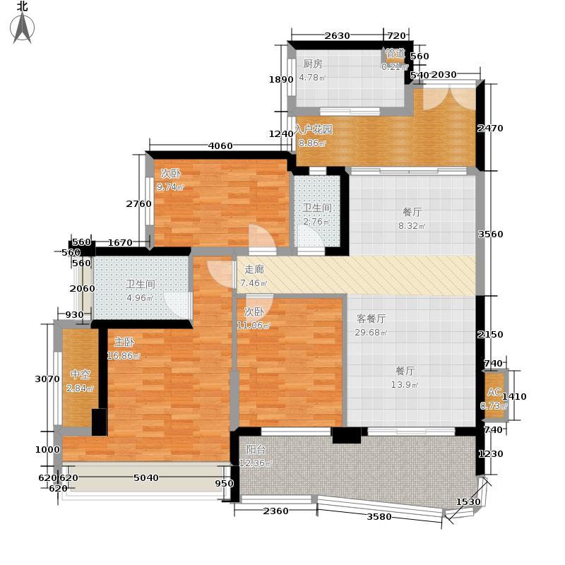 雅居乐清水湾133.10㎡TC户型3室2厅