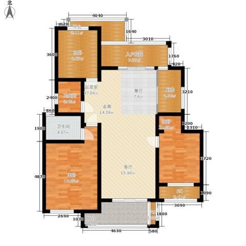 尚格・康桥漫步3室0厅2卫1厨124.00㎡户型图