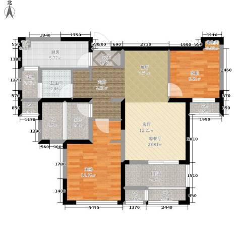 金地格林世界森林公馆2室1厅1卫1厨88.63㎡户型图
