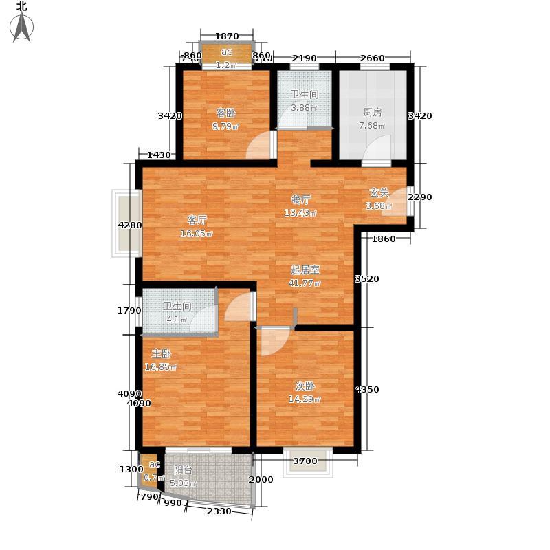 杉林新月家园119.36㎡上海面积11936m户型