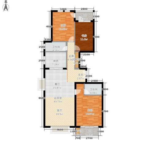 天佐奥城3室0厅2卫1厨149.00㎡户型图