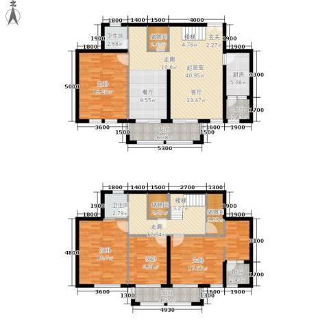 天佐奥城4室0厅2卫1厨211.00㎡户型图
