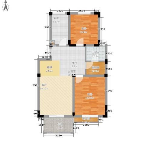 东塘电信宿舍单位房2室0厅1卫1厨78.00㎡户型图
