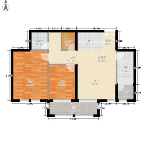 天佐奥城2室0厅1卫1厨106.00㎡户型图