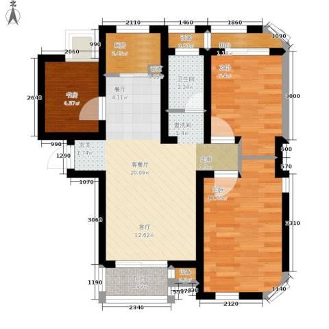 秀水丽苑3室1厅1卫1厨100.00㎡户型图