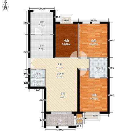 天佐奥城3室0厅3卫1厨135.00㎡户型图