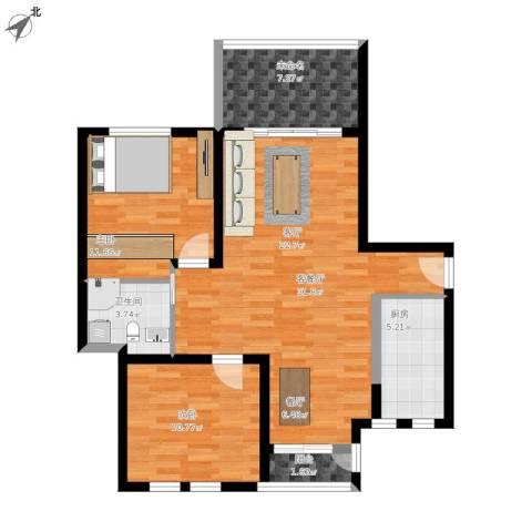 太湖普罗旺斯2室1厅1卫1厨103.00㎡户型图
