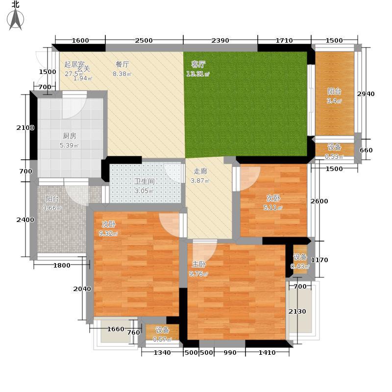 海志观月山水93.67㎡高层1-6户型2室2厅