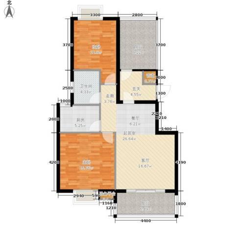 东方领秀2室0厅1卫1厨92.00㎡户型图