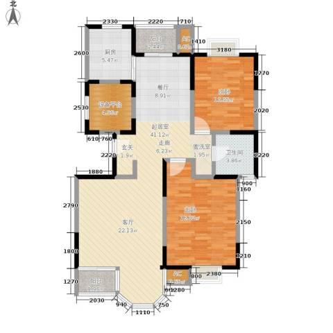 合生城邦三街坊2室0厅1卫1厨125.00㎡户型图