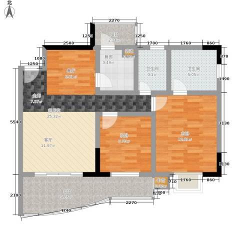 御景豪庭2室0厅2卫1厨82.00㎡户型图