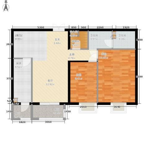 格调2室0厅1卫1厨111.00㎡户型图