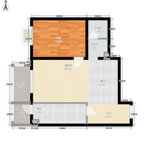 格调1室0厅1卫1厨88.00㎡户型图