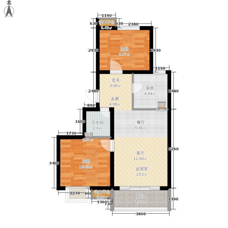 新天地美域99.00㎡B-1户型 3室2厅1厨1卫 99㎡户型3室2厅1卫
