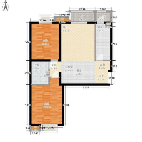 格调2室0厅1卫1厨103.00㎡户型图