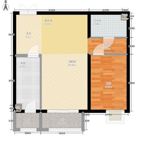 格调1室0厅1卫1厨81.00㎡户型图
