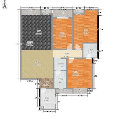 阳光新城3室0厅2卫1厨129.00㎡户型图
