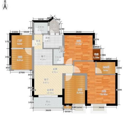 旭庆江湾国际花都3室0厅3卫1厨84.00㎡户型图