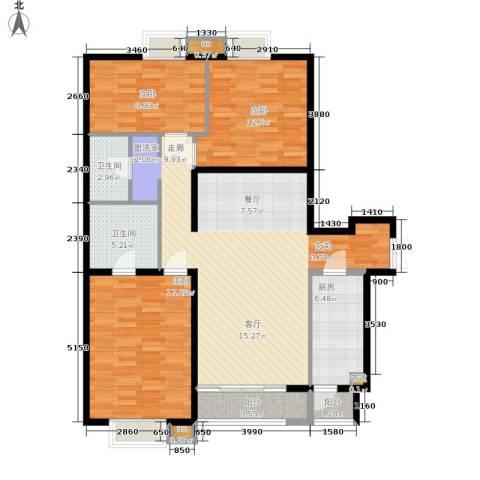 格调3室0厅2卫1厨140.00㎡户型图