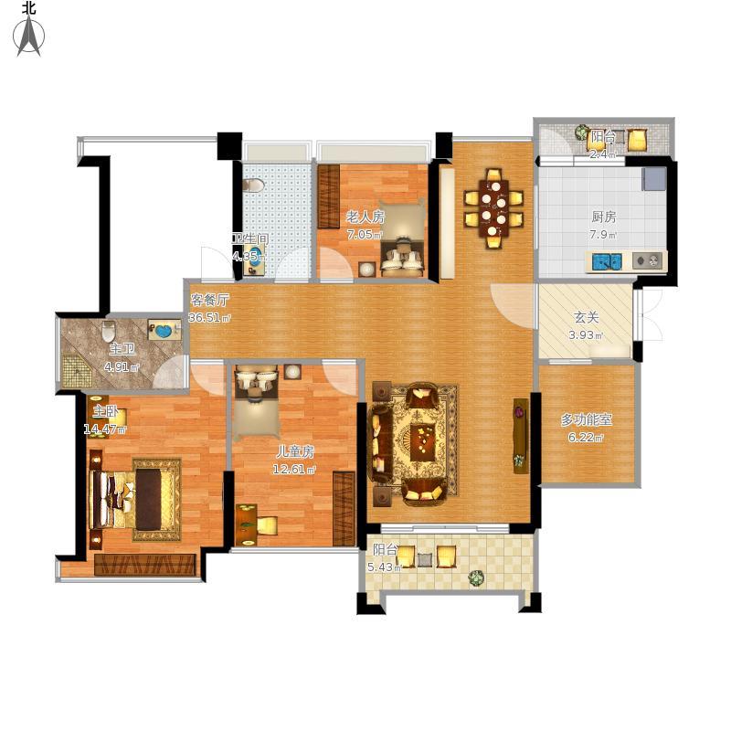四房两厅两卫