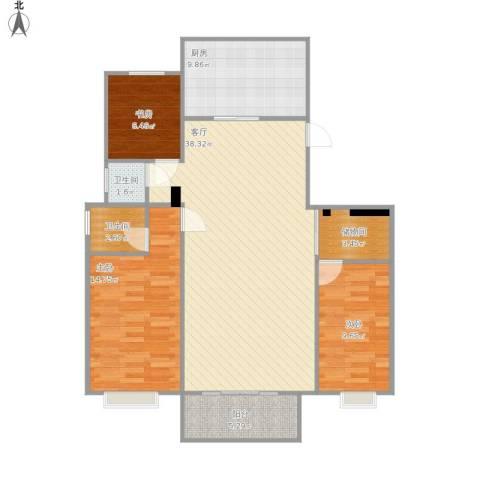 格兰春晨3室1厅2卫1厨125.00㎡户型图