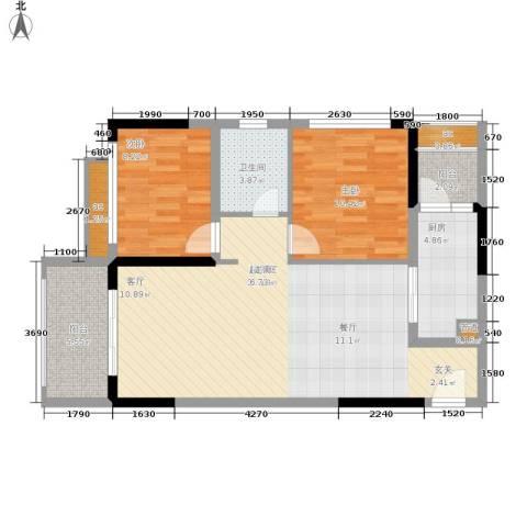 金科10年城2室0厅1卫1厨68.41㎡户型图