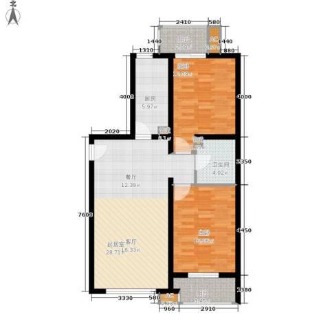 百子湾家园2室0厅1卫1厨100.00㎡户型图