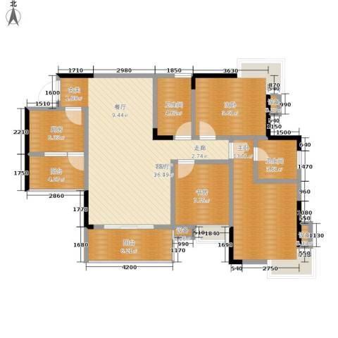 彩云小城3室1厅2卫1厨91.00㎡户型图