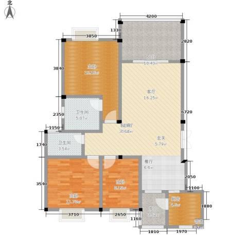 帝豪水岸印象3室1厅2卫1厨132.00㎡户型图