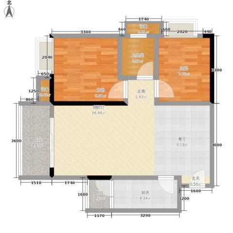 沙正街小区2室1厅1卫1厨113.00㎡户型图