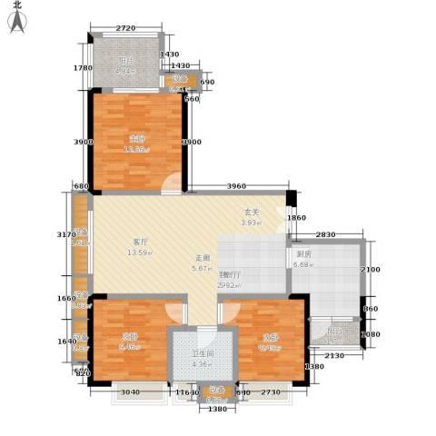阳光驿站3室1厅1卫1厨117.00㎡户型图