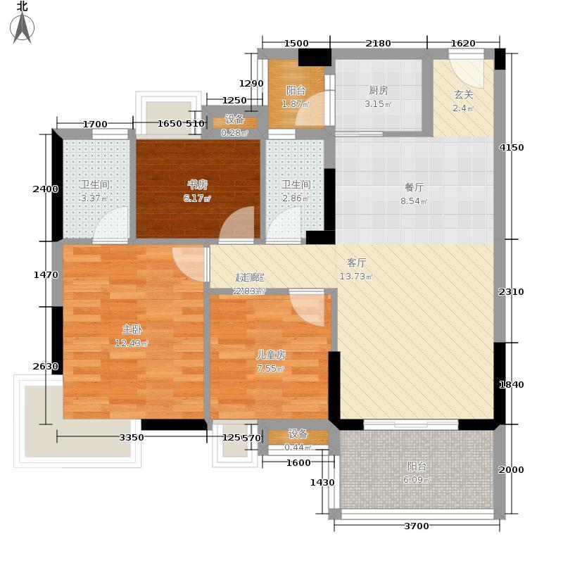 商道8号89.78㎡三期5栋1单元02号房、2单元01号房户型2室2厅