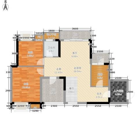 金凤豪苑2室0厅1卫1厨89.00㎡户型图