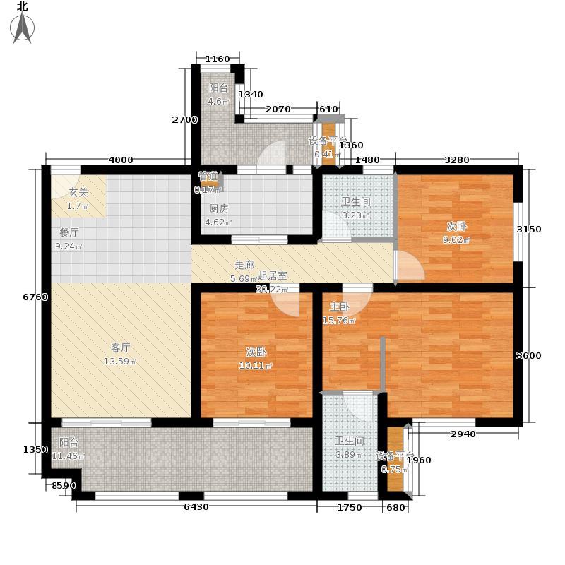 叠彩山一期洋房E户型3室2厅
