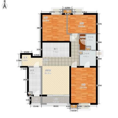 格调3室0厅2卫1厨141.00㎡户型图