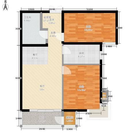 格调2室0厅1卫1厨105.00㎡户型图
