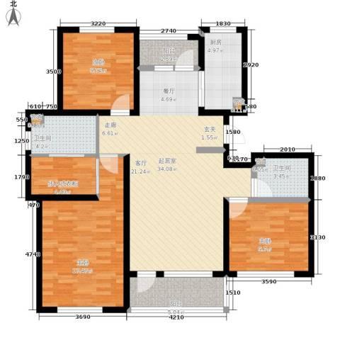 建荣皇家海岸3室0厅2卫1厨120.00㎡户型图