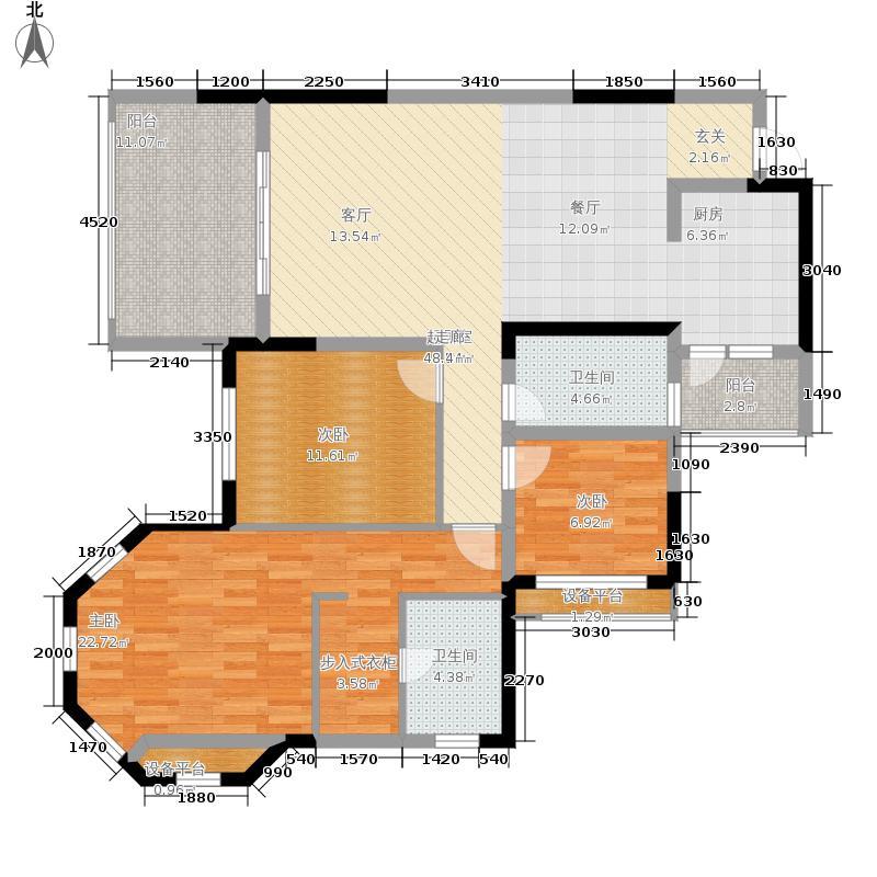 金科10年城107.08㎡三期B2栋2面积10708m户型