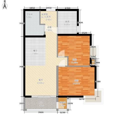 格调2室0厅1卫1厨107.00㎡户型图
