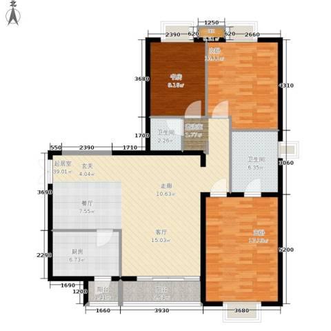 格调3室0厅2卫1厨139.00㎡户型图