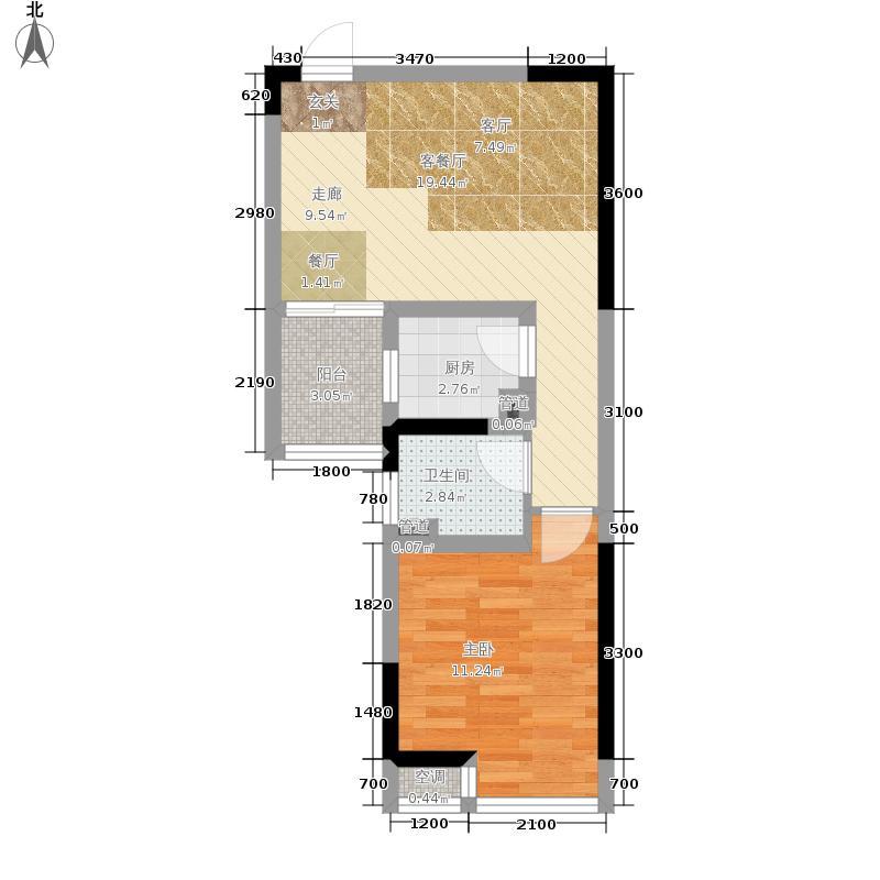 北城旺角44.31㎡10、111面积4431m户型
