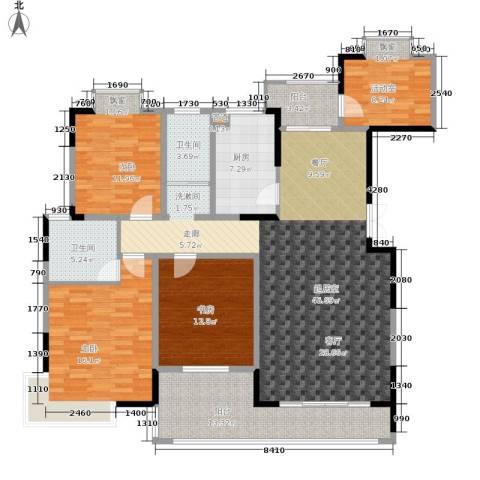西岸润泽府3室0厅2卫1厨143.00㎡户型图