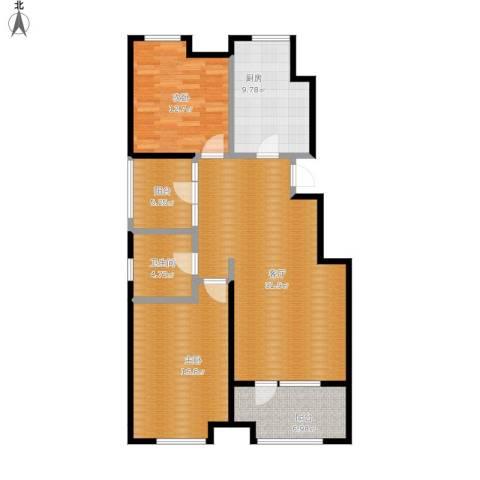和天下2室1厅1卫1厨123.00㎡户型图