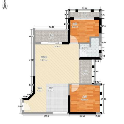 如恩岁月2室0厅1卫0厨59.00㎡户型图
