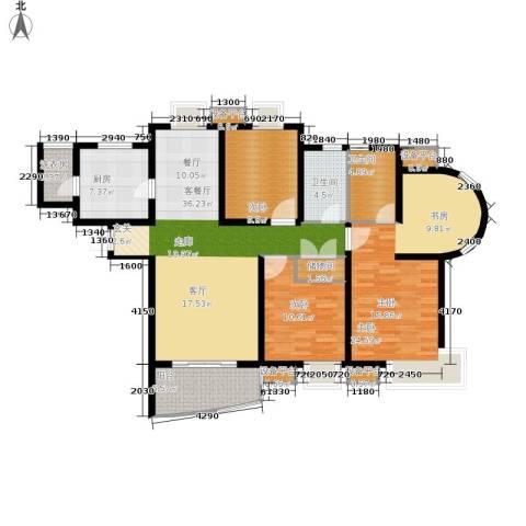 九城湖滨国际3室1厅2卫1厨128.00㎡户型图