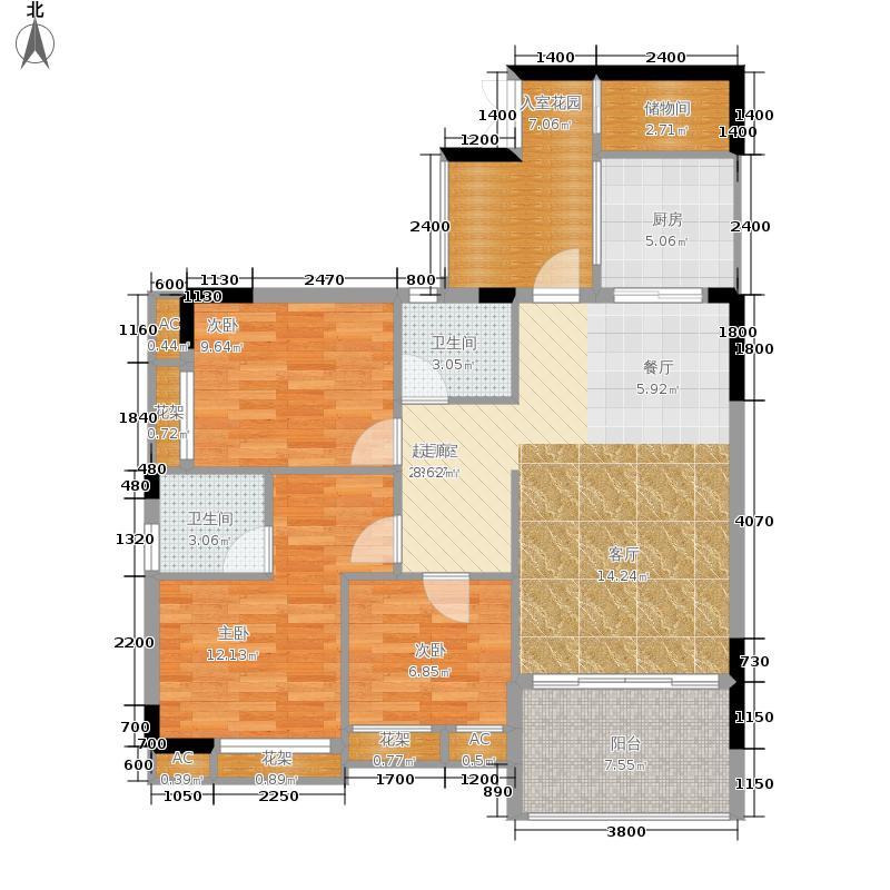 中冶黛山壹品110.37㎡一期5号楼标准层1/2/5/6号房户型