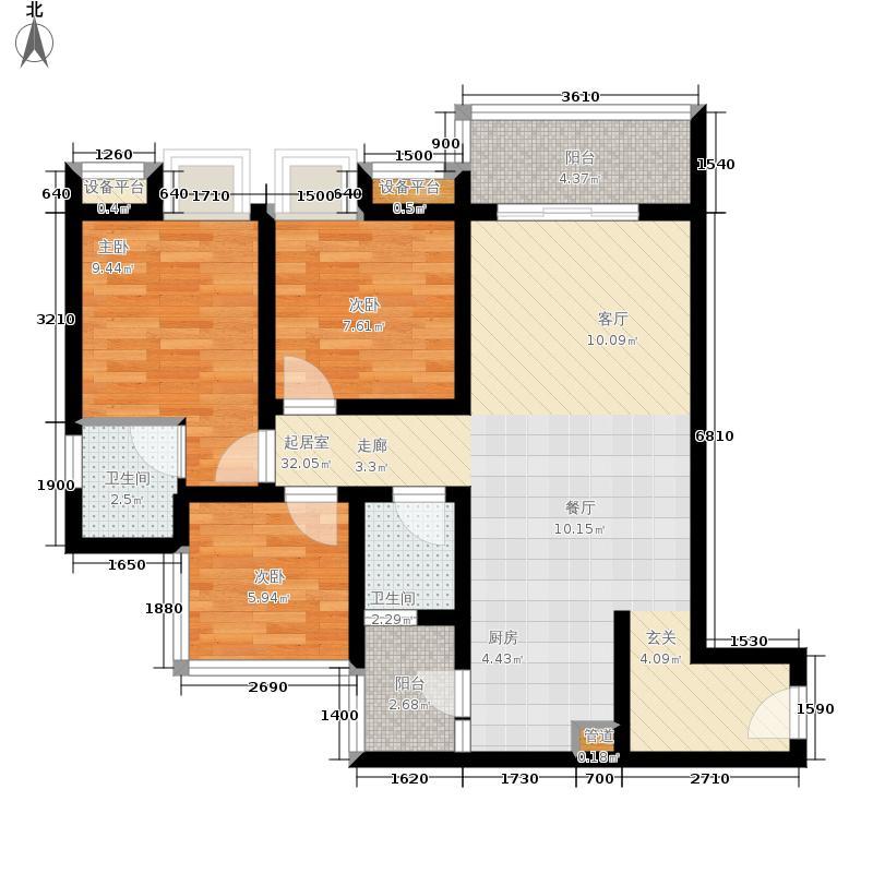 典雅花溪半岛90.00㎡花溪半岛高层7号楼2号房2+户型2室2厅