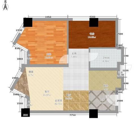 加州水郡一期1室0厅1卫0厨101.00㎡户型图
