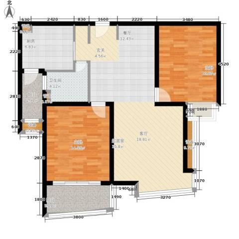滨江名人苑2室0厅1卫1厨123.00㎡户型图